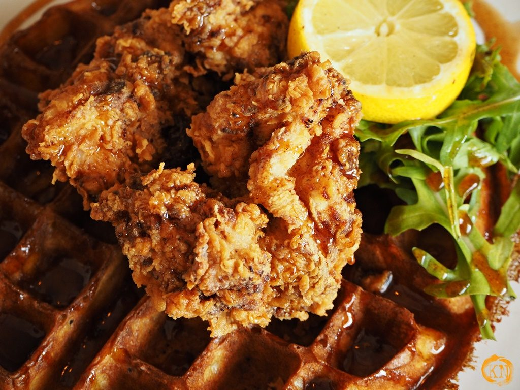Fried chicken Waffel