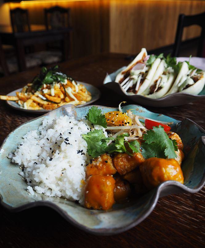 Mango fried tofu
