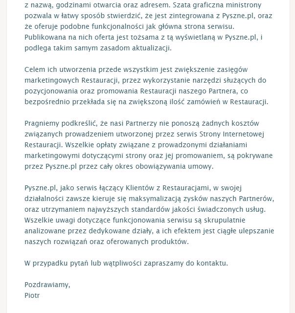 """""""Afera"""" z Pyszne.pl, czyli jak gastronomia uczy się marketingu."""
